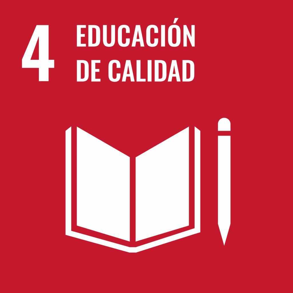 Logotipo ODS 4 Educación de calidad