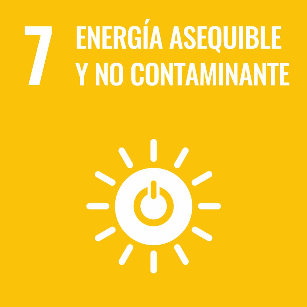 Logotipo ODS 7 Energía asequible y no contaminante