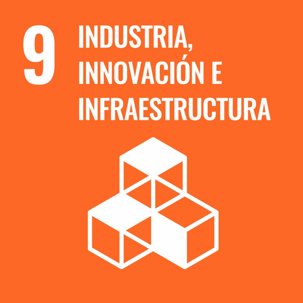 Logotipo ODS 9 Industria, innovación e infraestructura