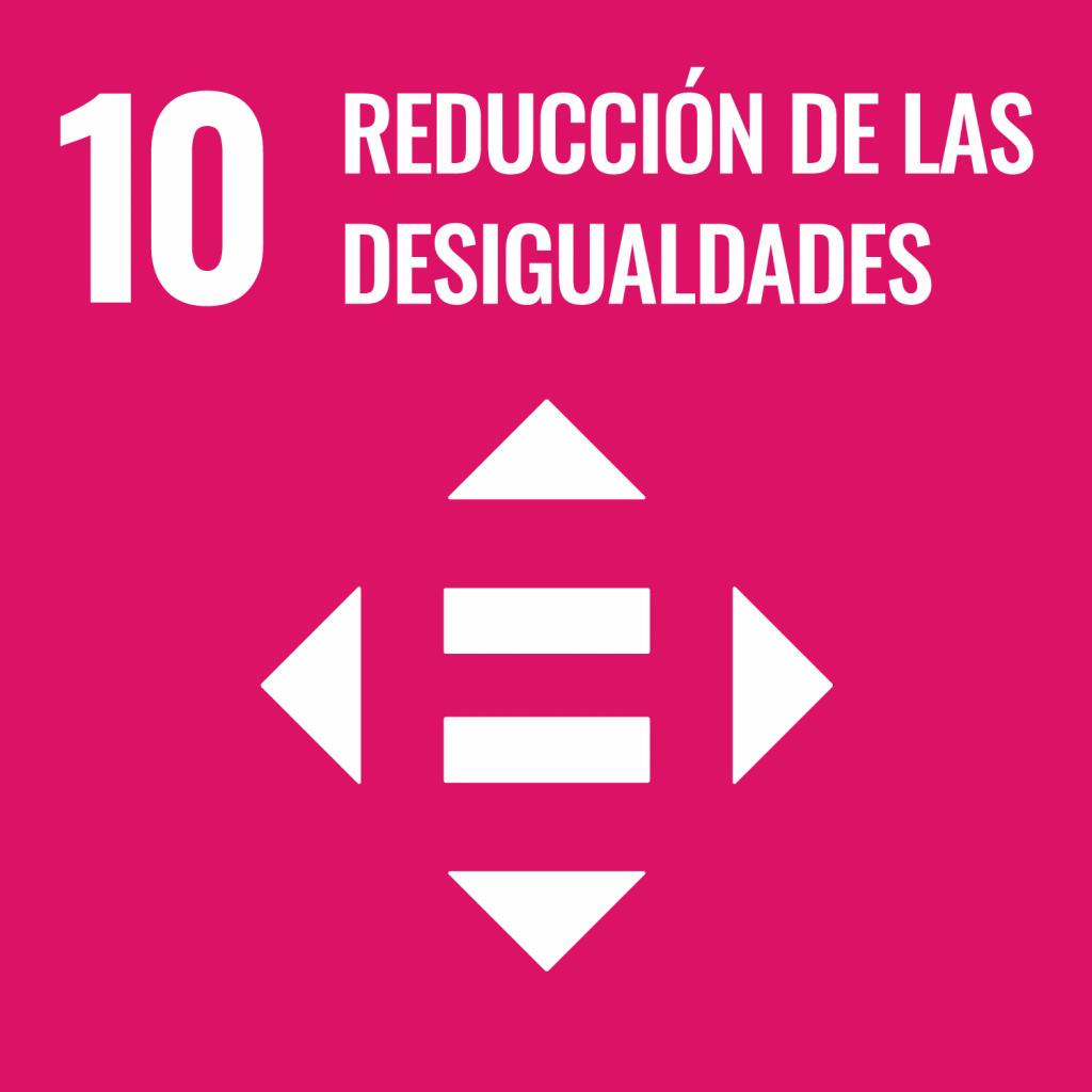 Logotipo ODS 10 Reducción de las desigualdades