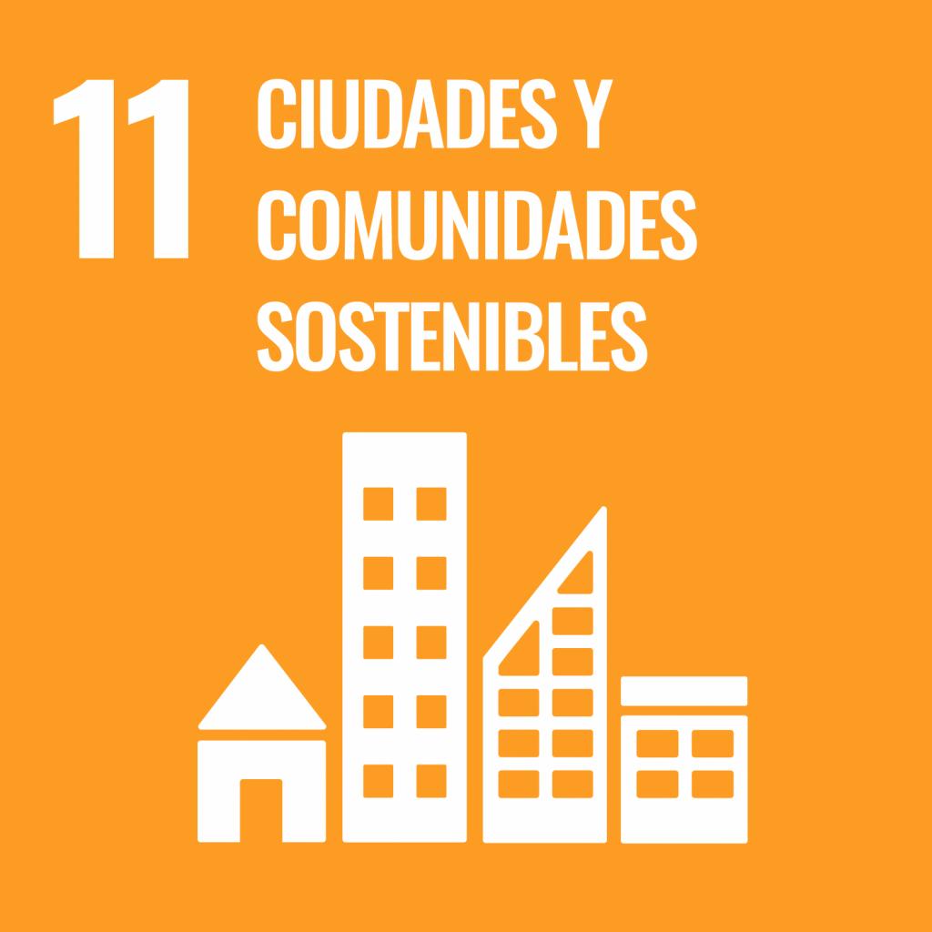 Logotipo ODS 11 Ciudades y comunidades sostenibles