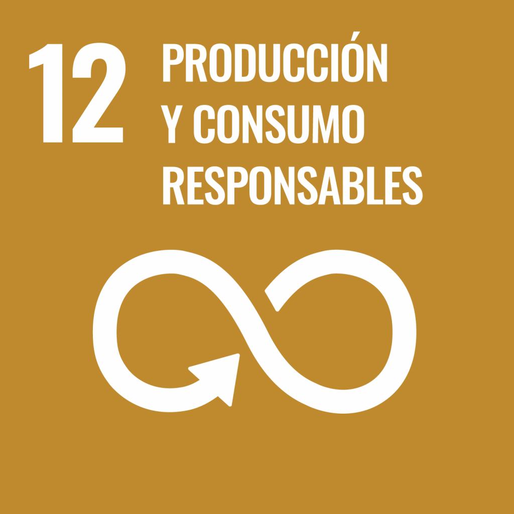 Logotipo ODS 12 Producción y consumos responsables