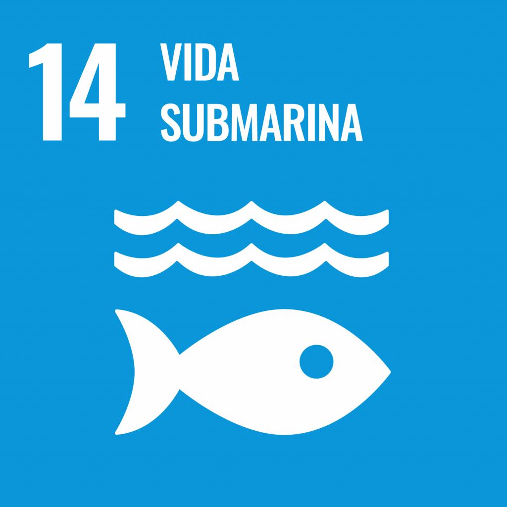 Logotipo ODS 14 Vida submarina