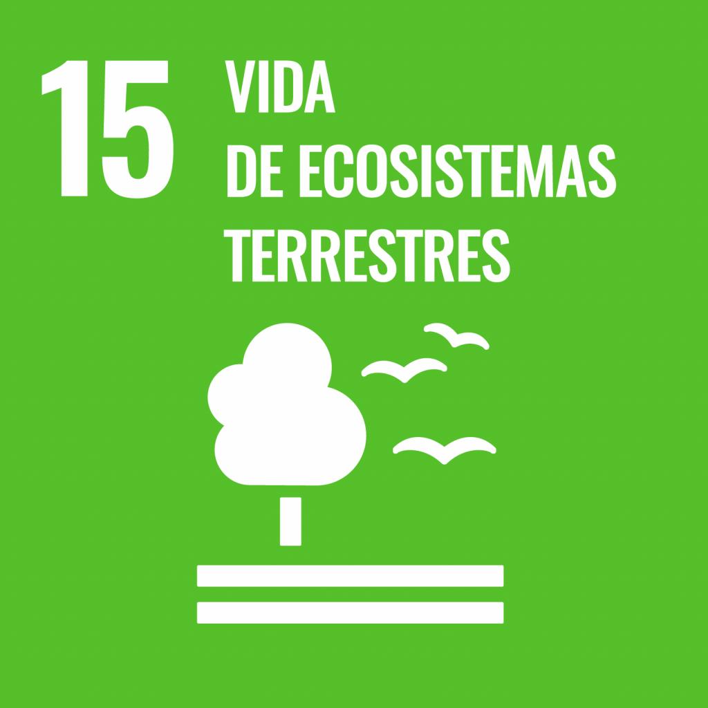 Logotipo ODS 15 Vida de ecosistemas terrestres