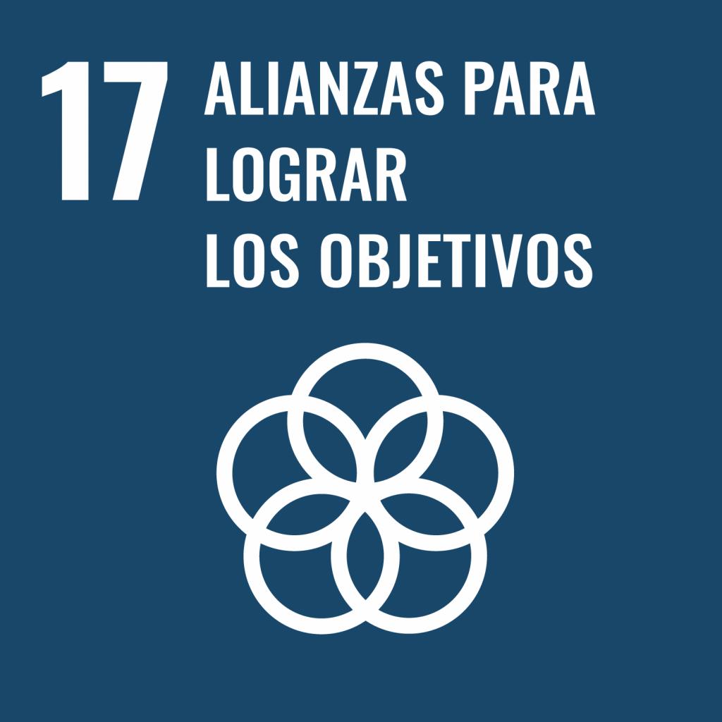 Logotipo ODS 17 Alianzas para lograr objetivos